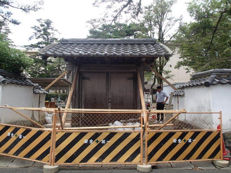萩高等学校東門修繕工事