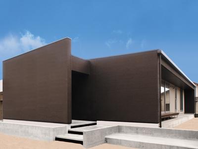 新築戸建 シックで高級感あふれる外観の平屋